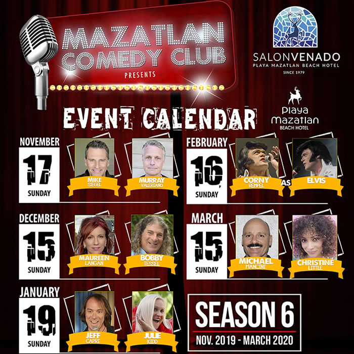 Mazatlan Comedy Club Calendar Season 6
