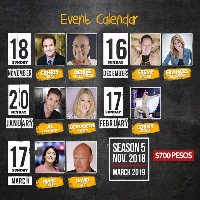 Mazatlan Comedy Club Event Calendar