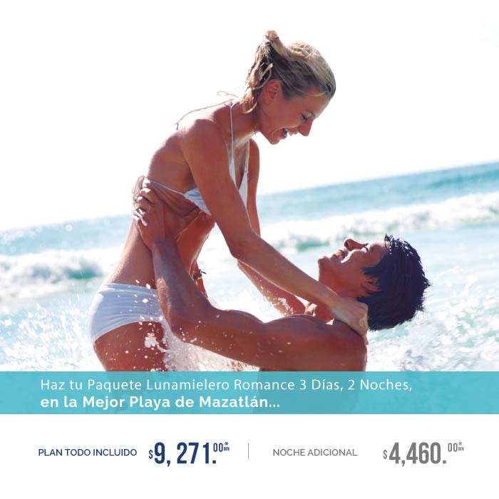 Paquete Lunamielero Todo Incluido de Hotel Playa Mazatlán