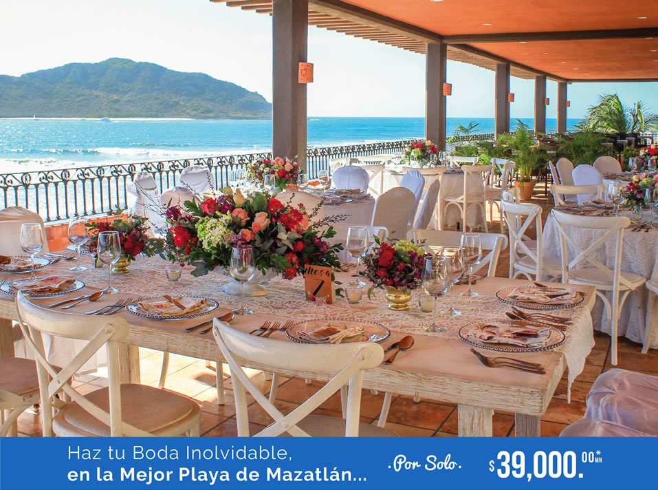 Paquete de Bodas Hotel Playa Mazatlán