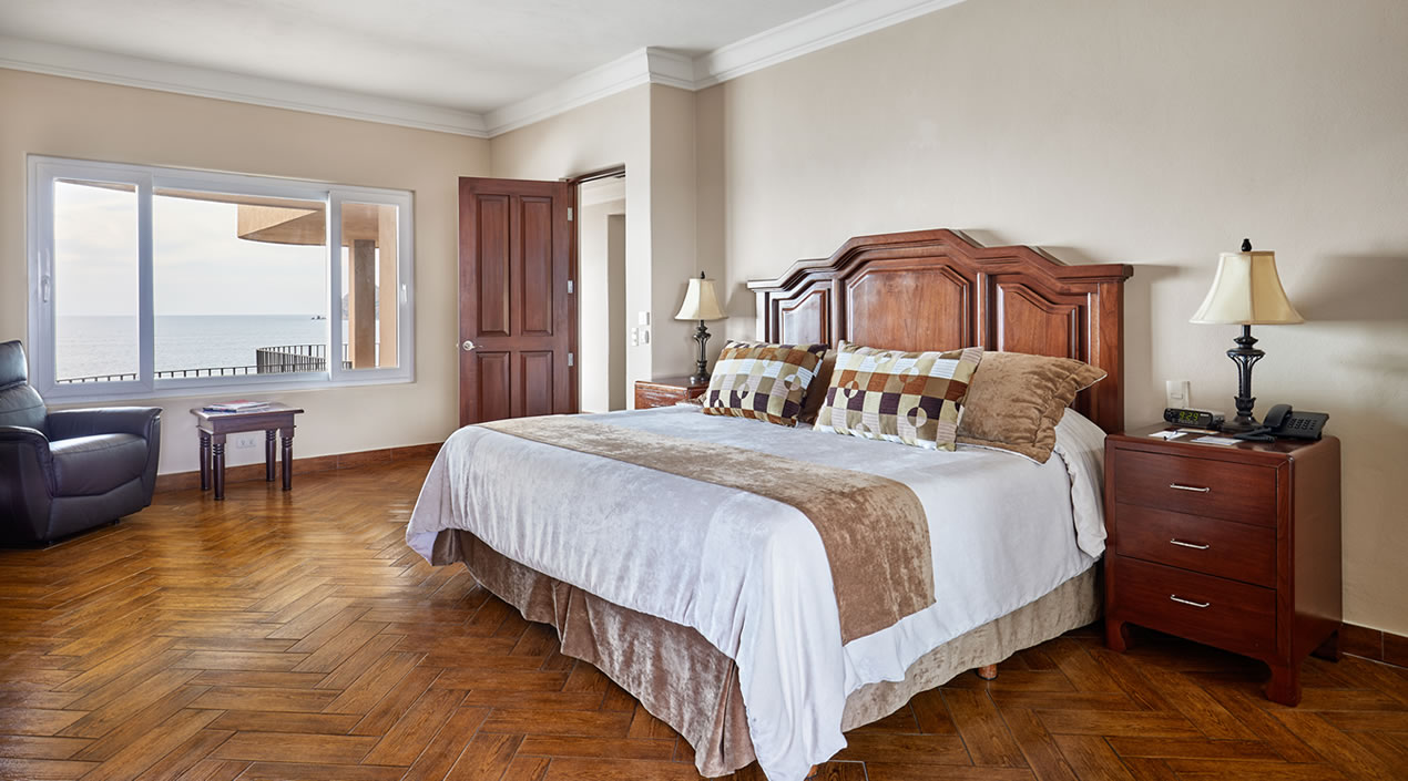 Recámara Principal del Penthouse Pacífica de Hotel Playa Mazatlán