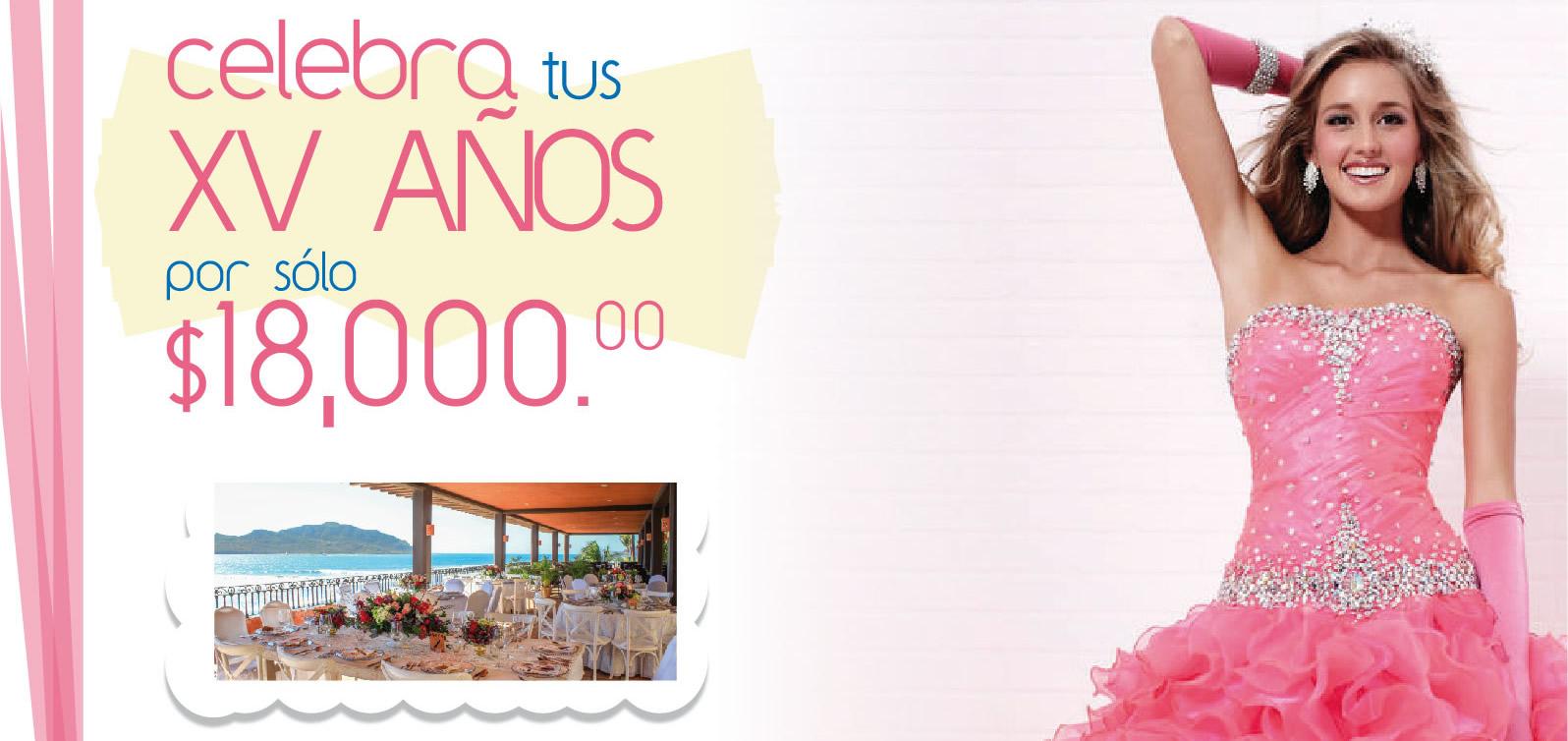 Celebra tus XV años en Hotel Playa Mazatlán