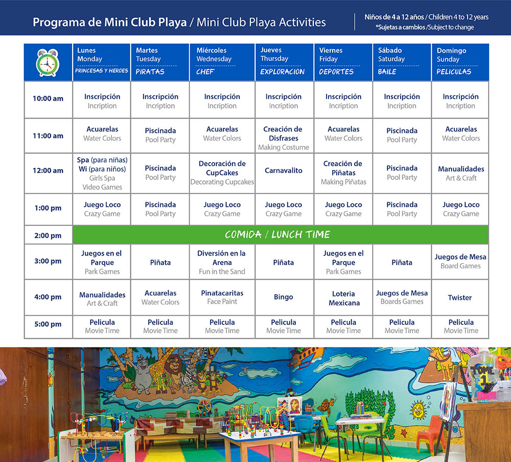Kids Club Playa Mazatlan Beach Hotel