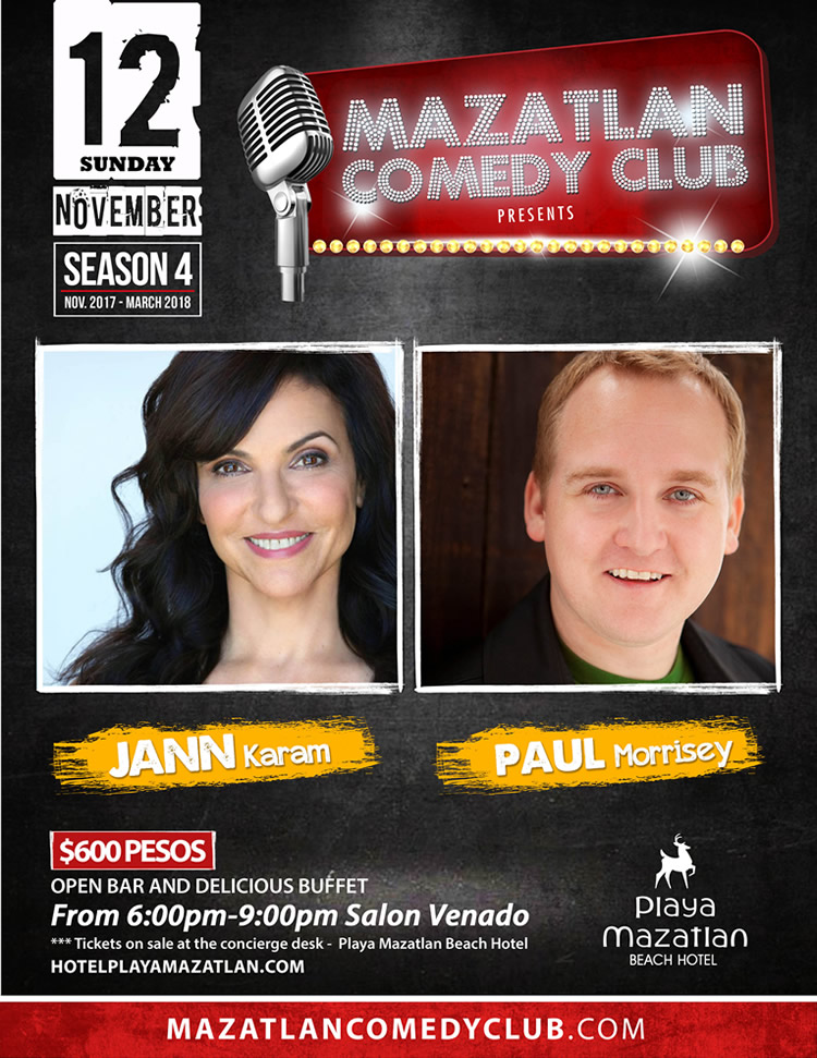 Jann Karam and Paul Morrisey Mazatlan Comedy Club Season 4