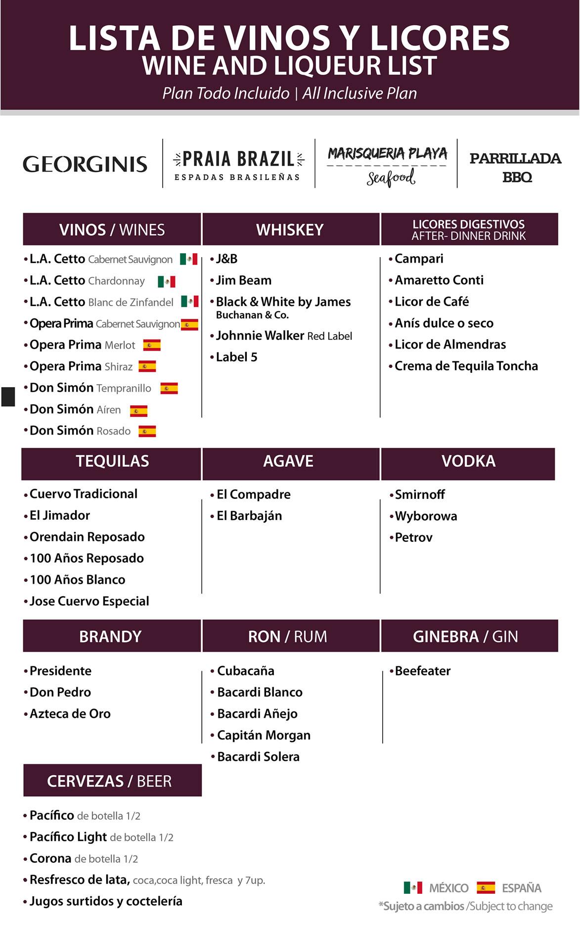 Vinos y Licores Georginis y Restaurantes Itinerantes Julio 2020 Hotel Playa Mazatlán