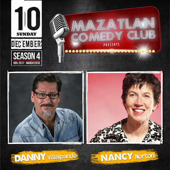 Danny Villalpando and Nancy Norton Mazatlan Comedy Club