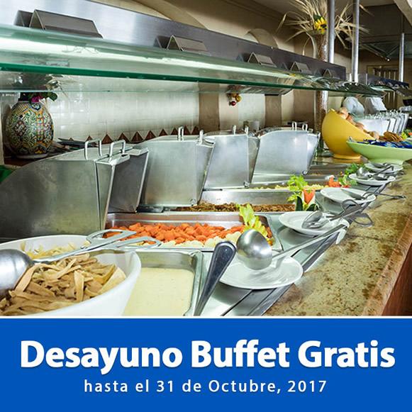 Desayuno Buffet Gratis Hotel Playa Mazatlán
