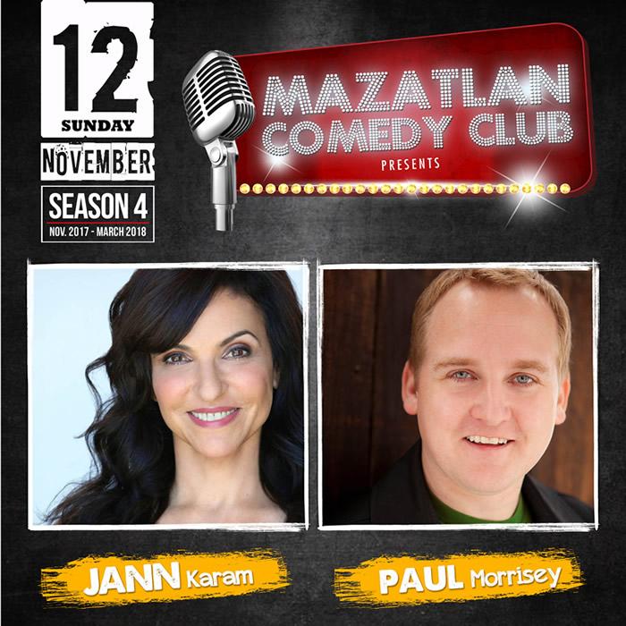 Jann Karam and Paul Morrisey at Mazatlan Comedy Club