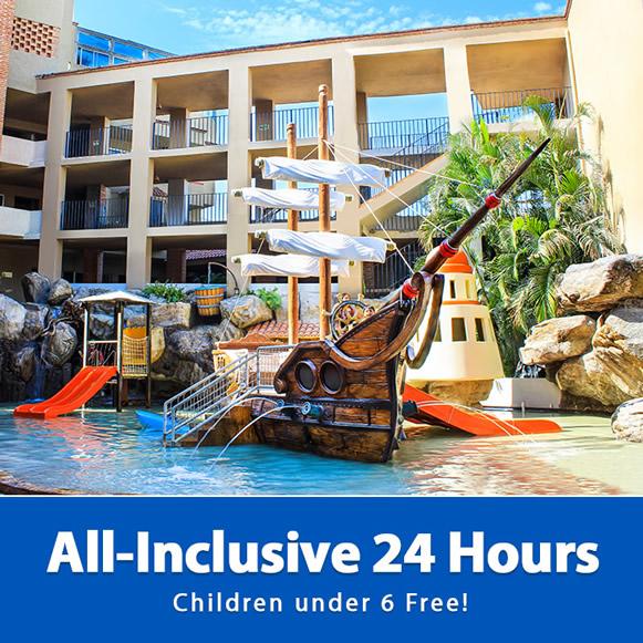 All Inclusive 24 Hours Children under 6 Free Playa Mazatlan Beach Hotel