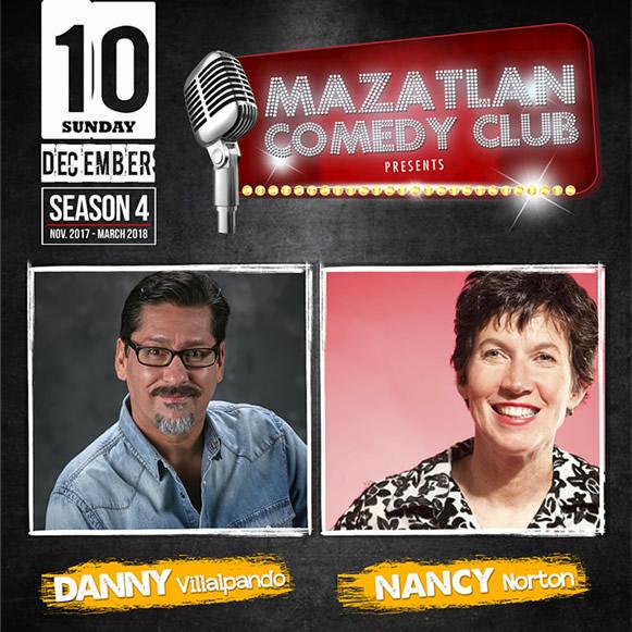 Danny Villalpando and Nancy Norton Mazatlan Comedy Club