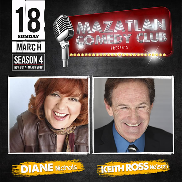 Diane Nichols and Keith Ross Nelson Mazatlan Comedy Club