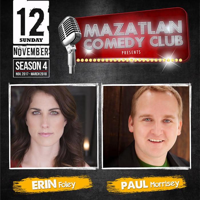 Erin Foley Paul Morrisey at Mazatlan Comedy Club