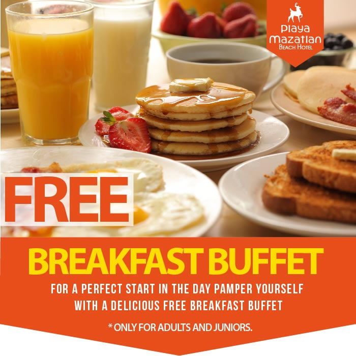 Free Breakfast Buffet Hotel Playa Mazatlan