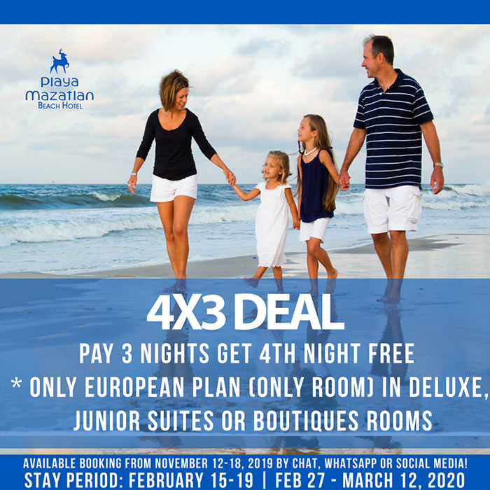 Free Nights 4x3 Hotel Playa Mazatlan