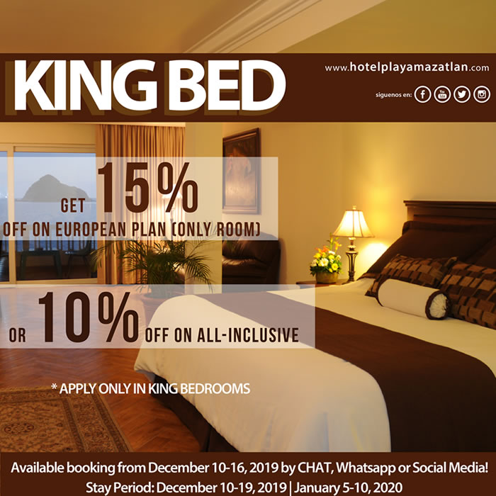 Get up to 15 Off Only King Bed Hotel Playa Mazatlan
