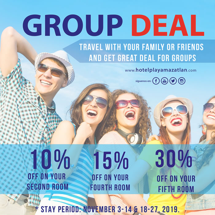 Group Deal Get Up to 30 Discount Hotel Playa Mazatlan