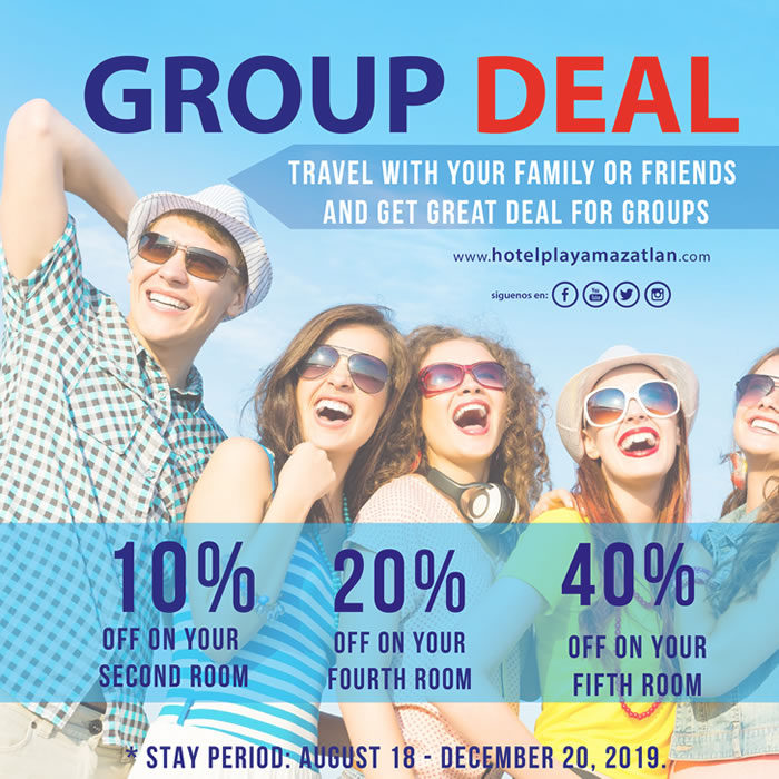 Group Deal Get Up to 40 Discount Hotel Playa Mazatlan