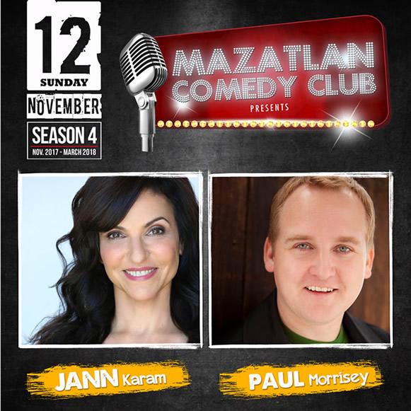 Jann Karam and Paul Morrisey Mazatlan Comedy Club