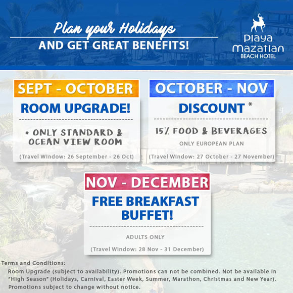 Special Offers and Discounts Hotel Playa Mazatlan