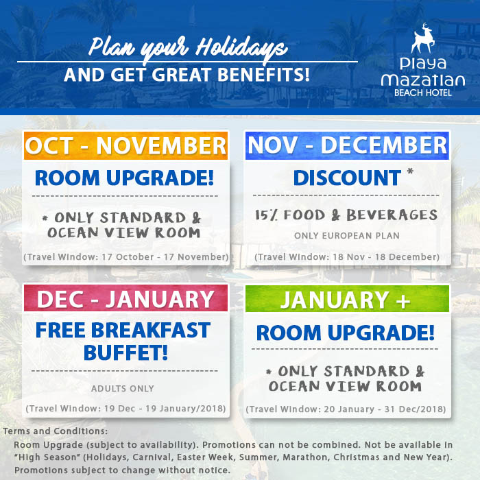 Special Offers and Discounts Playa Mazatlan Beach Hotel