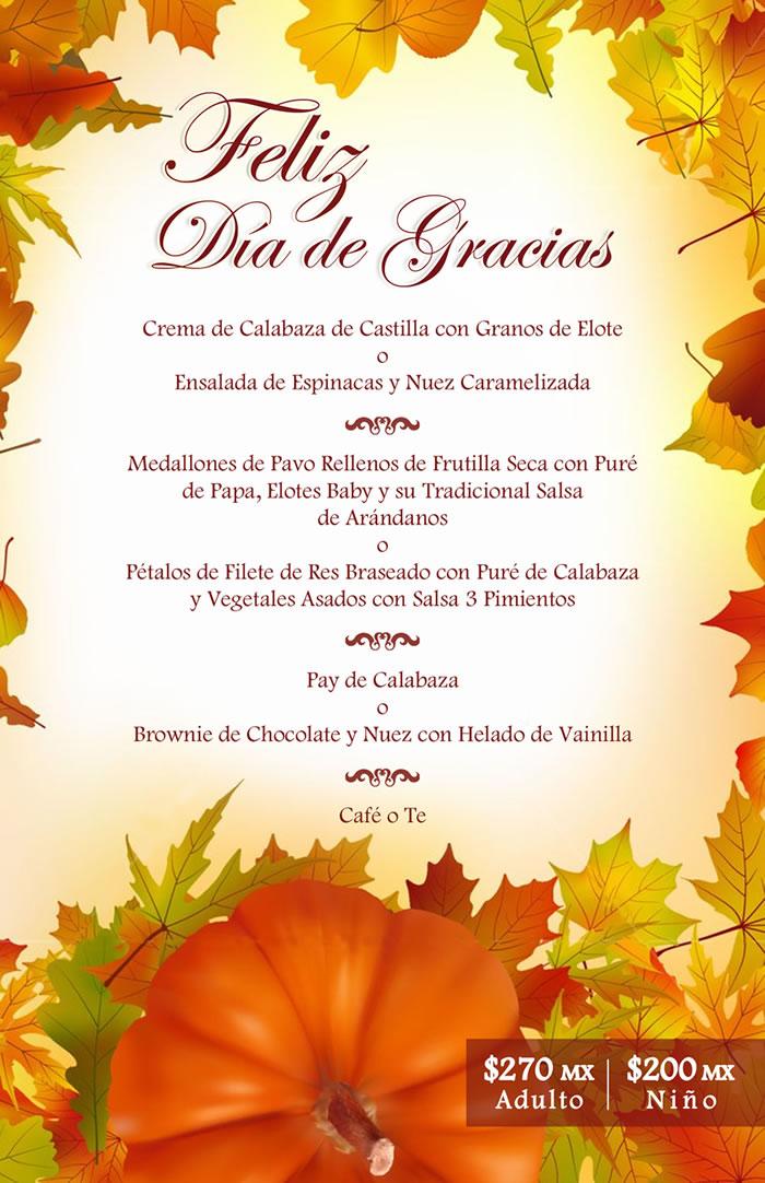 Feliz Dia D Accion D Gracias >> Celebra el Día de Acción de Gracias en Playa Mazatlán | Hotel Playa Mazatlan