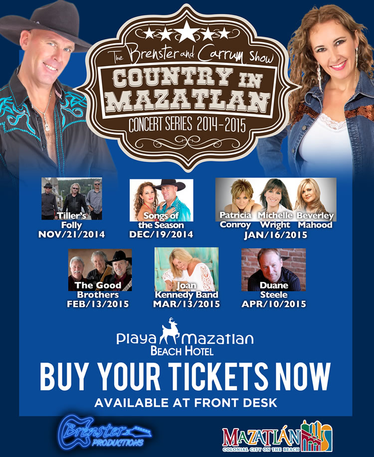Canadian Country Music Concerts In Mazatlan