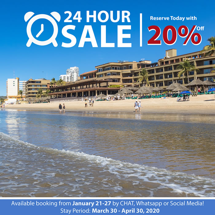 24 Hour Sale Hotel Playa Mazatlan