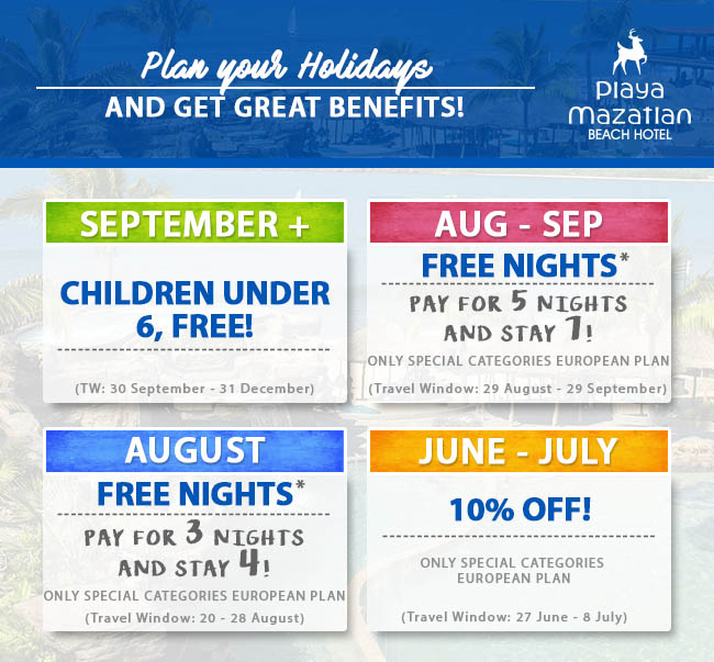 Specials and Discounts Week 2 Playa Mazatlan