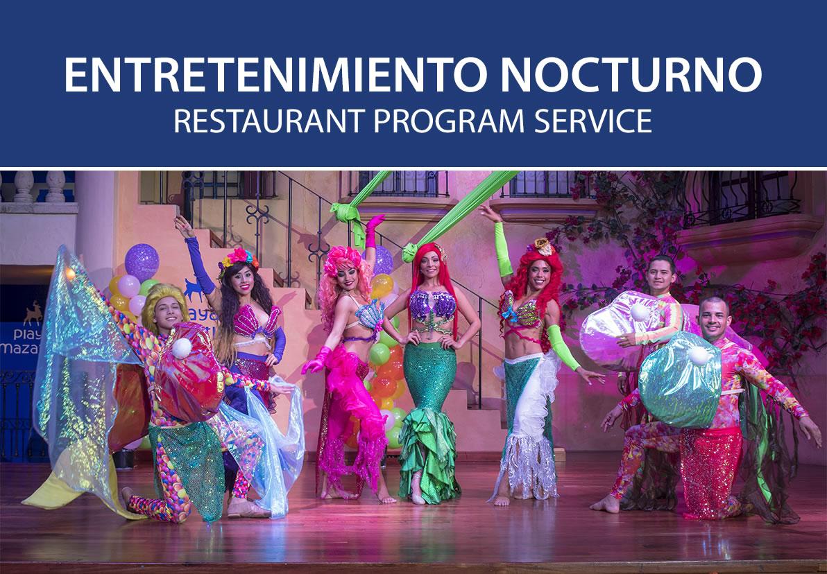 Entretenimiento Nocturno de Hotel Playa Mazatlán