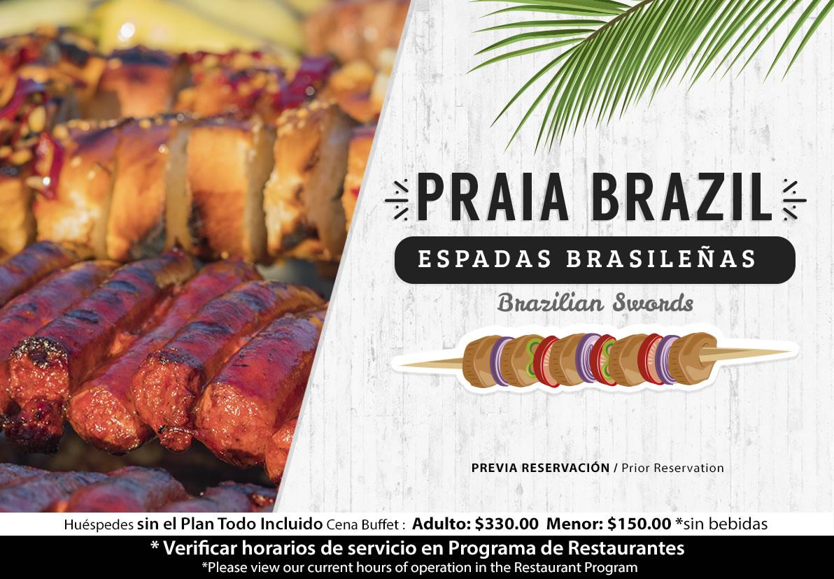 Espadas Brasileñas Hotel Playa Mazatlán