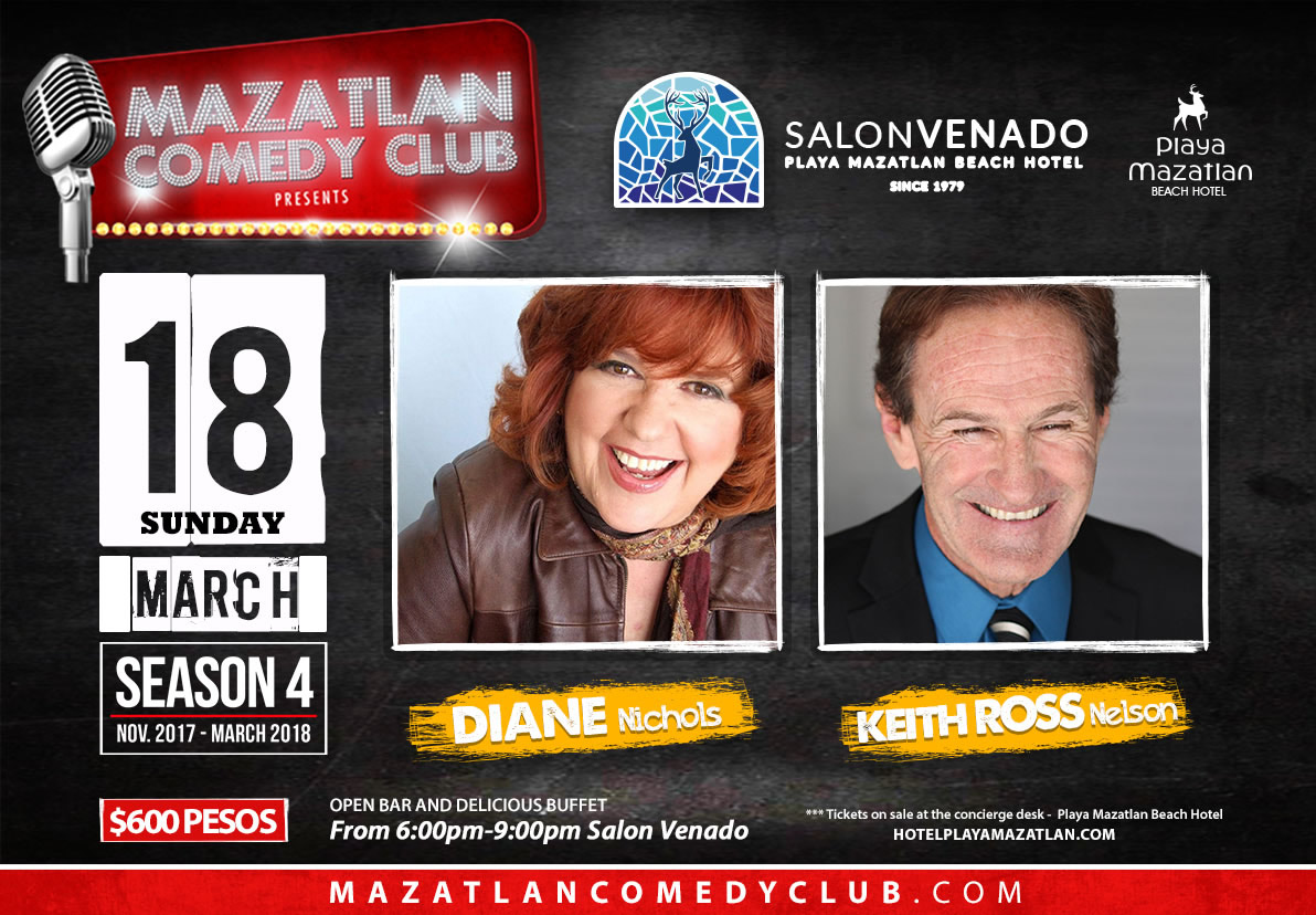 Mazatlan Comey Club 18 March Diane Nichols and Keith Ross Nelson