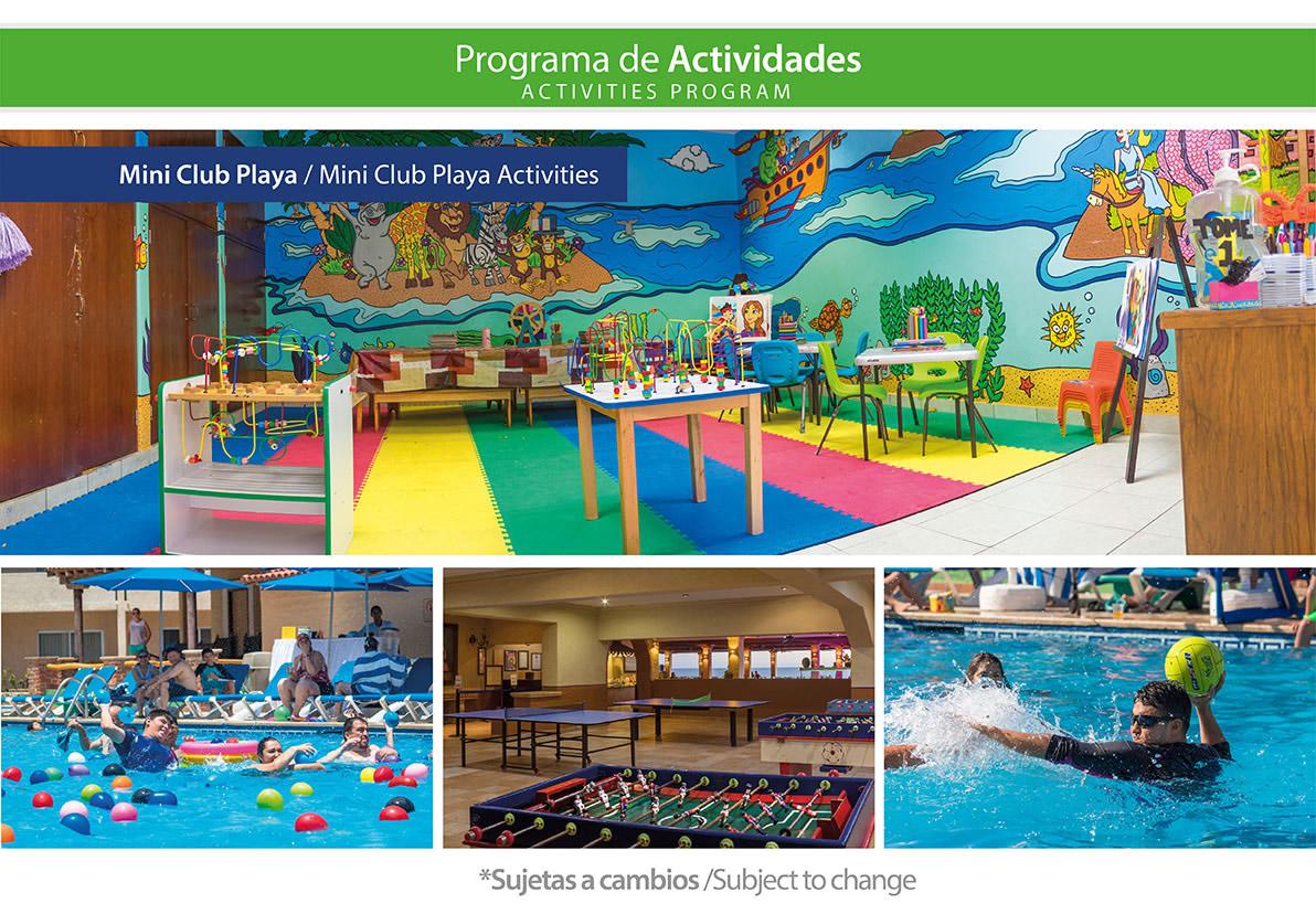 Programa de Actividades y Mini Club de Hotel Playa Mazatlán