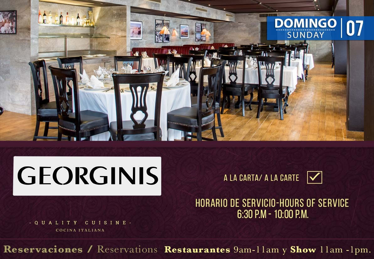 Restaurant Georginis Domingo 7 de Julio 2019