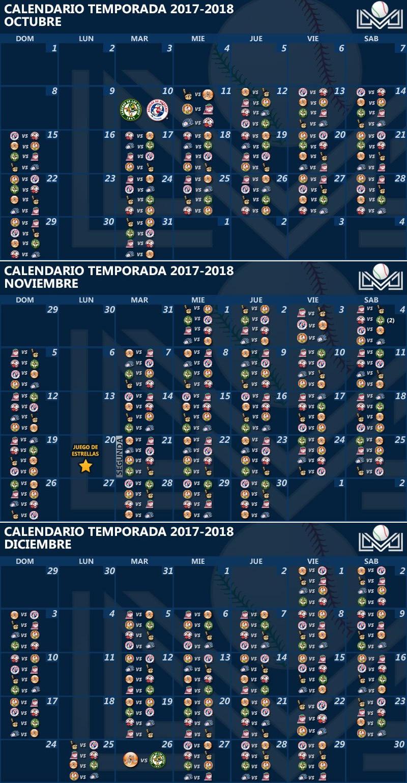Calendar of the Season 2017_2018 Mexican Pacific League