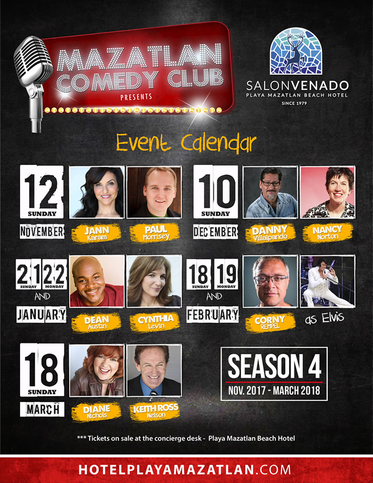 Mazatlan Comedy Club Season 4 New Dates Mazatlan