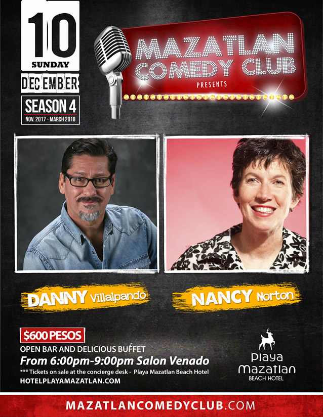 Danny Villalpando and Nancy Norton Mazatlan Comedy Club Season 4