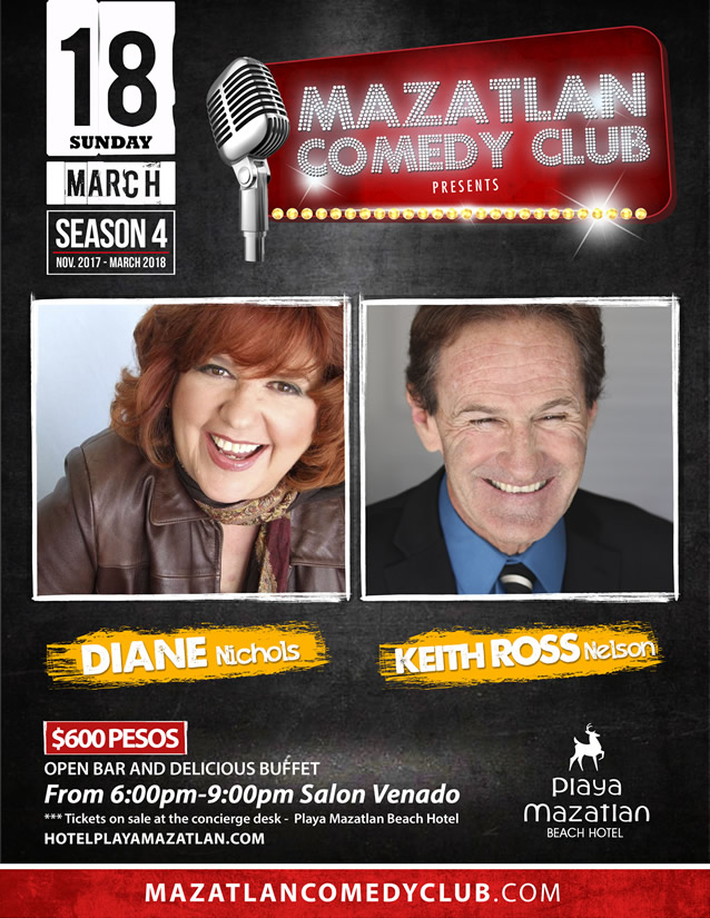 Diane Nichols and Keith Ross Nelson Mazatlan Comedy Club Season 4