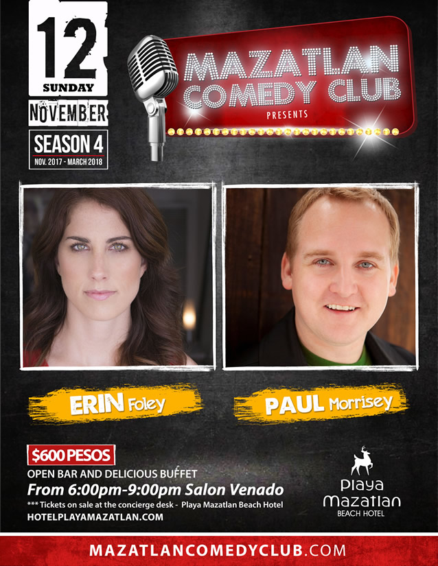 Erin Foley and Paul Morrisey Mazatlan Comedy Club Season 4