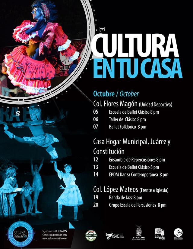 Cultura en Tu Casa Festival Cultural Mazatlán 2017