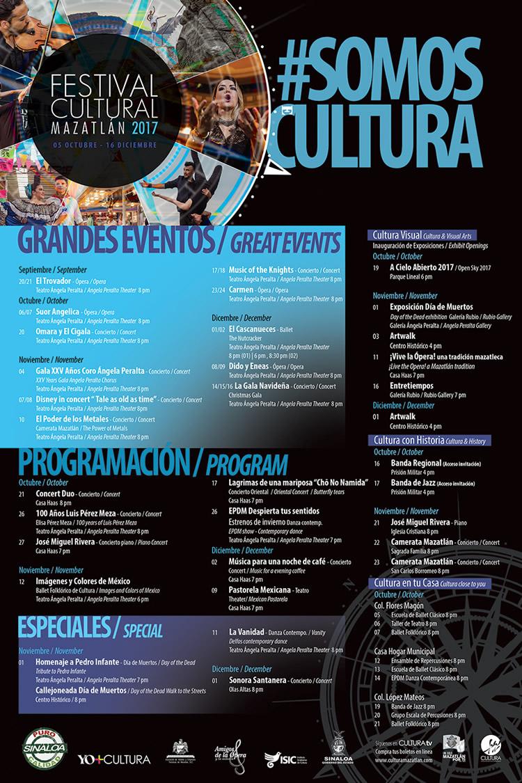 Programa del Festival Cultural Mazatlán 2017