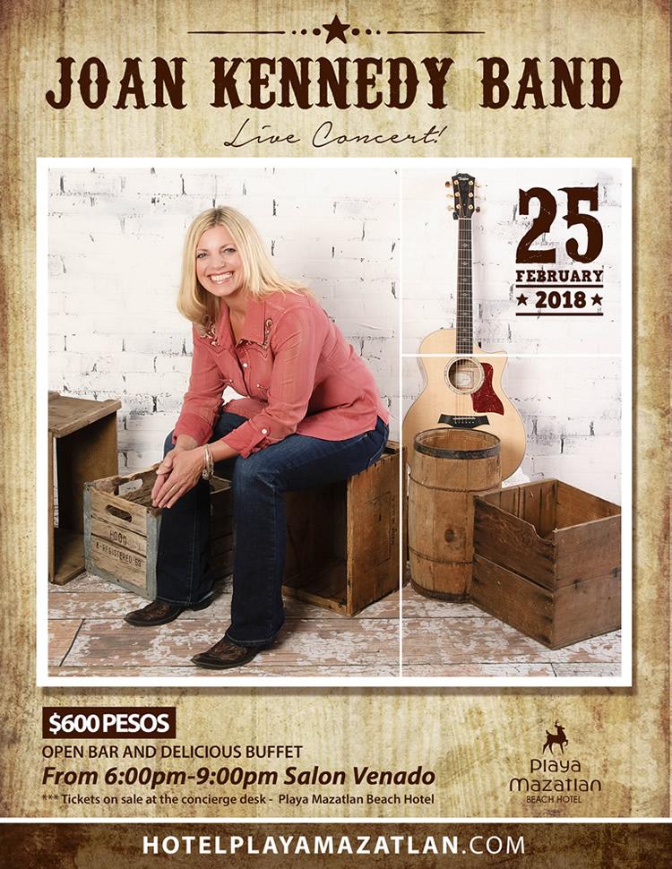 Joan Kennedy Live Concert in Mazatlan