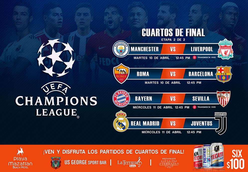 Cuartos de Final Champions League | | Hotel Playa Mazatlan