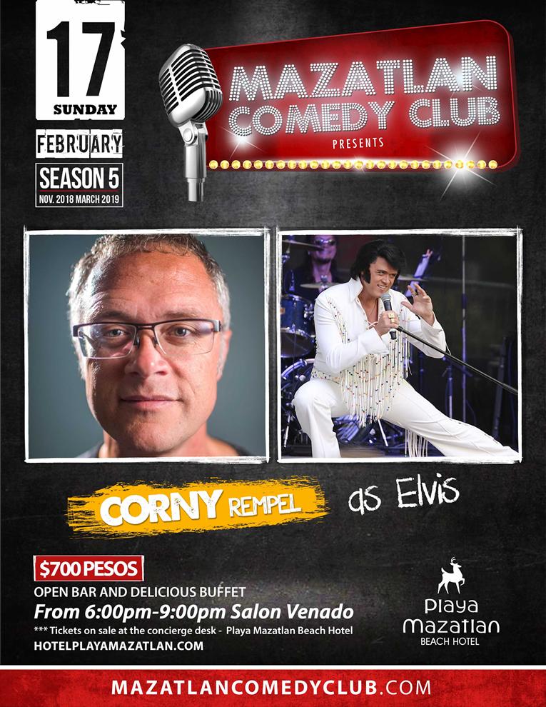 Mazatlan Comedy Club by Corny Rempel as Elvis