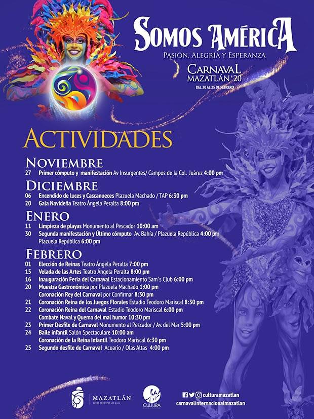 Actividades del Carnaval Internacional de Mazatlán 2020