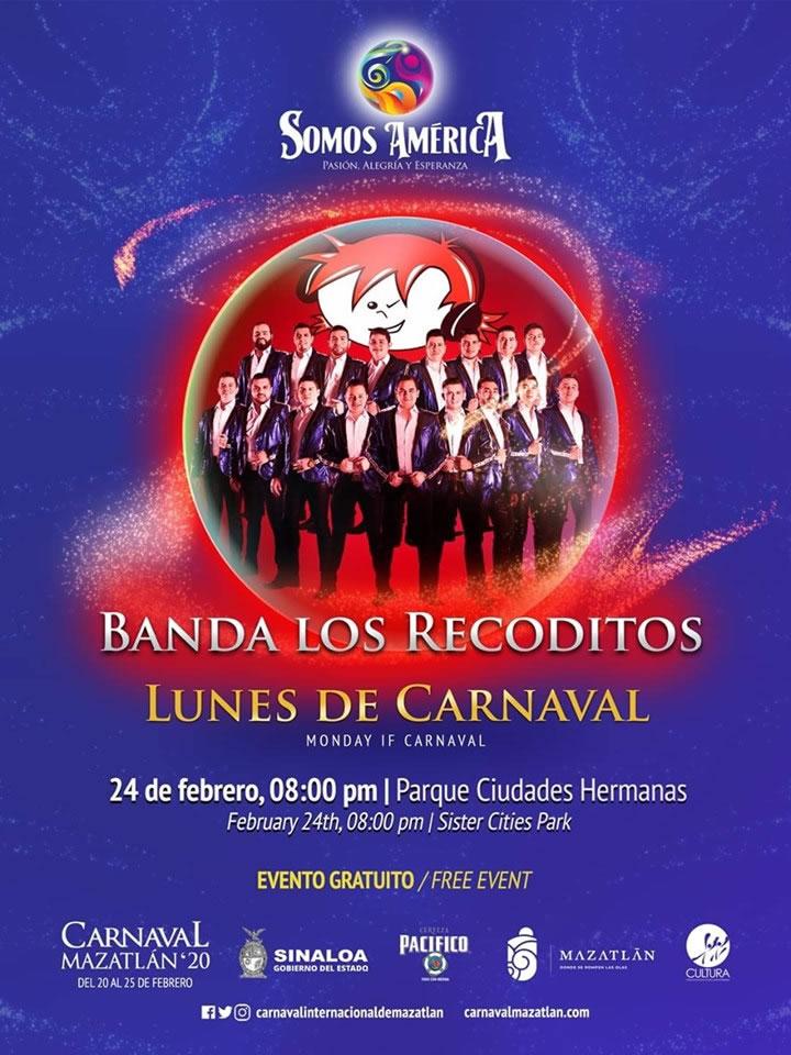 Banda Los Recoditos en el Parque de las Ciudades Hermanas Carnaval de Mazatlán 2020
