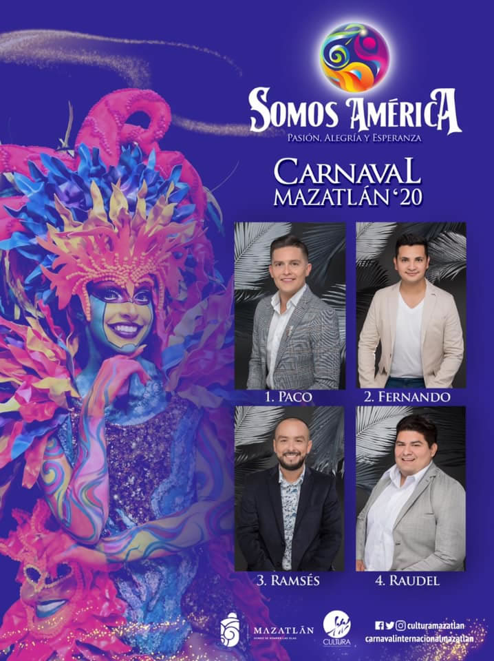 Candidates for King of the Mazatlan Carnival 2020
