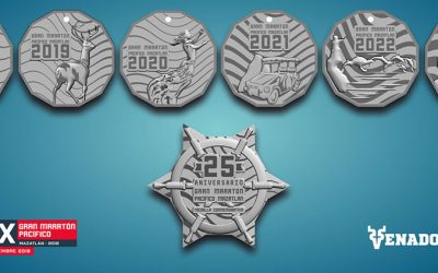 Commemorative Medals of the Great Pacific Marathon Mazatlan 2018