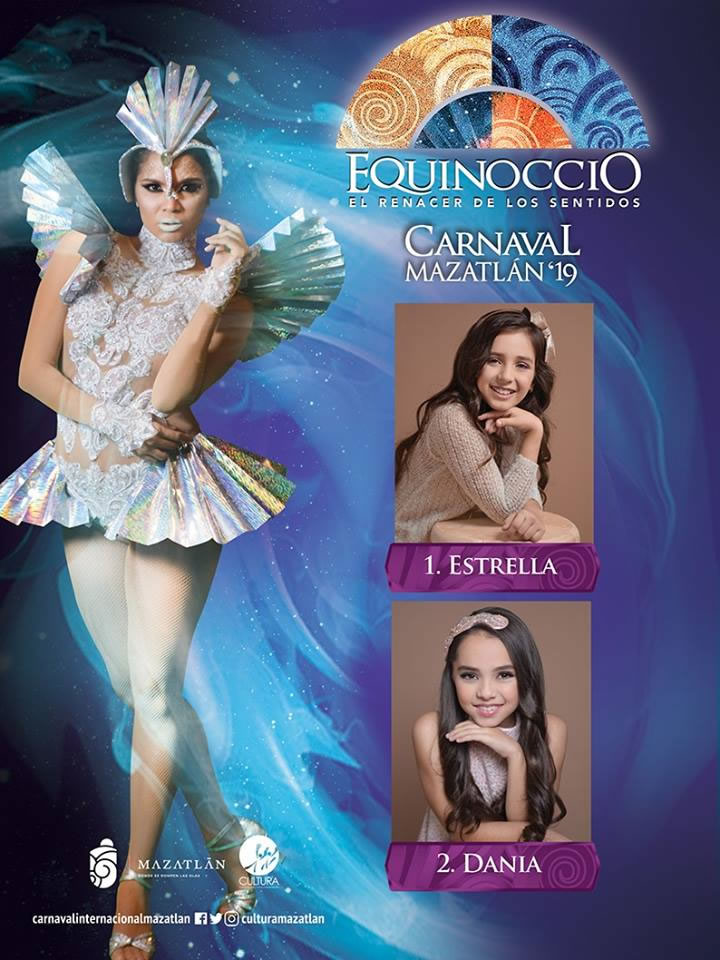 Candidates for Children's Queen Mazatlan Carnival 2019