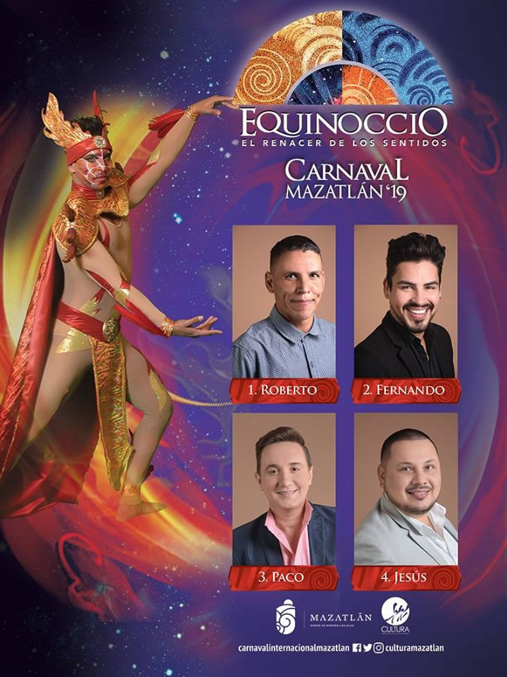 Candidates for King of Happiness Mazatlan Carnival 2019