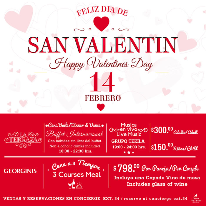Celebrate Valentines Day at Hotel Playa Mazatlan